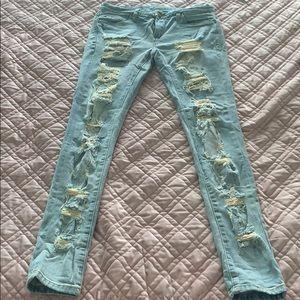 Blank NYC distressed stretch skinny jeans